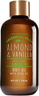 bath and body works almond and vanilla body oil