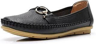 Apakowa Women's Classic Comfort Walking Flat Loafers Driving Casual Slip On Boat Shoes