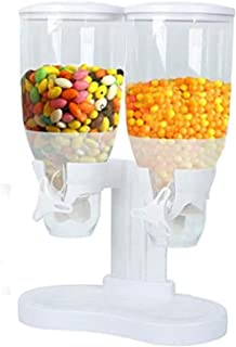 AMM Dual Cereal Dispenser White/Clear [AMM Technology]