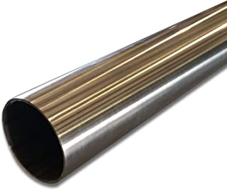"""1 1//2/'/' Stainless Steel Round Tube x .065 Wall x 6/"""" Long"""