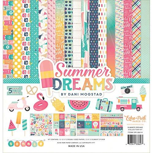 Echo Park Paper Company DR126016Papier- und Sticker-Set Kollektion Summer Dreams