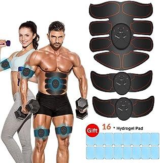 comprar comparacion iThrough Estimulador Muscular Abdominales, EMS Electroestimulador Muscular Abdominales, ABS Estimulador Muscula para Hombr...