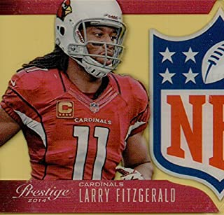 LARRY FITZGERALD - 2014 PANINI PRESTIGE NFL DIE CUT FOOTBALL CARD #4 (ARIZONA CARDINALS) FREE SHIPPING AND TRACKING