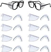 DEDC 8 paar oogglazen zijschilden, slip op helder zijschild voor veiligheidsbril, past klein tot medium flexibel universeel