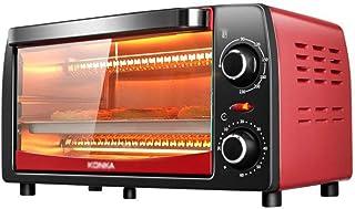 SUWEN Horno de convección de sobremesa, 12 litros, para cocinar, Temperatura hasta 230 ° C, Temporizador 60 Minutos, 1050 vatios, Rojo