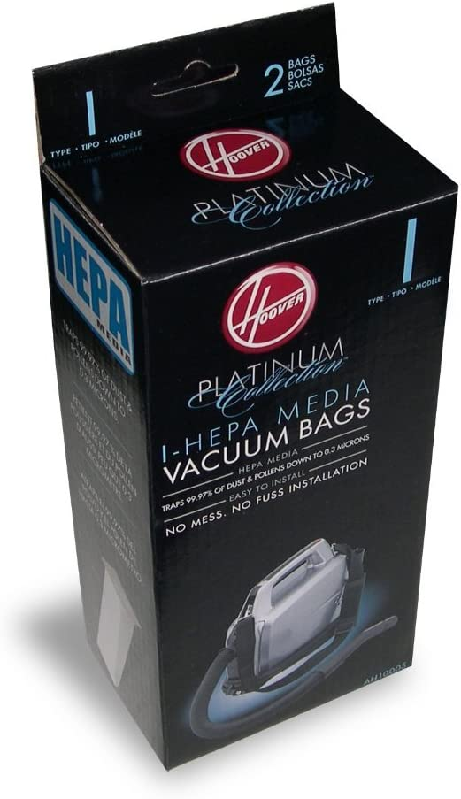 Hoover 8 Platinum I Vacuum Bags for Platinum Canisters( 4 PACKS