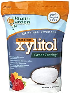 Health Garden Birch Xylitol Sugar Free Sweetener, All Natural, Non GMO (Not from Corn (10 Pound)