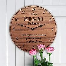 Mari57llis 5º con poema regalo para 5 aniversario con poema de 5 años, poema por año para siempre, reloj de pared de 15 cm