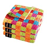 Cawö Handtücher Lifestyle Karo Multicolor 25 Seiflappen 30x30 cm