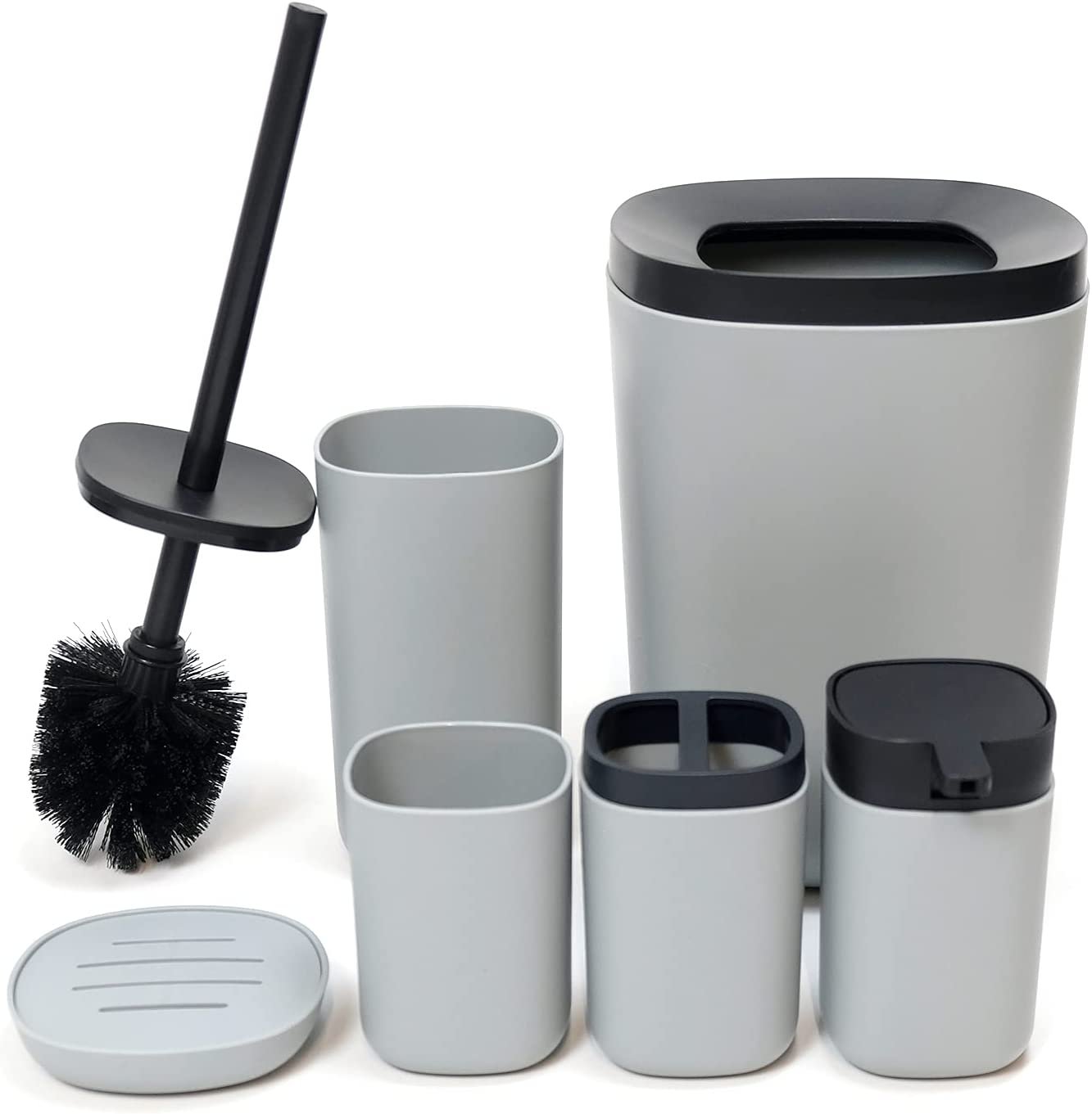 SAUMONIERES Max 87% OFF Bathroom Accessories Bath Set of 6 Ranking TOP13 Complete Toothbr