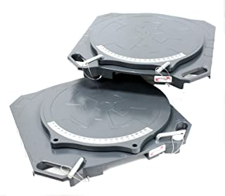 9TRADING One Pair Aluminum Turntable Wheel Alignment 360° Rotating Turn Plate Table 4 Ton