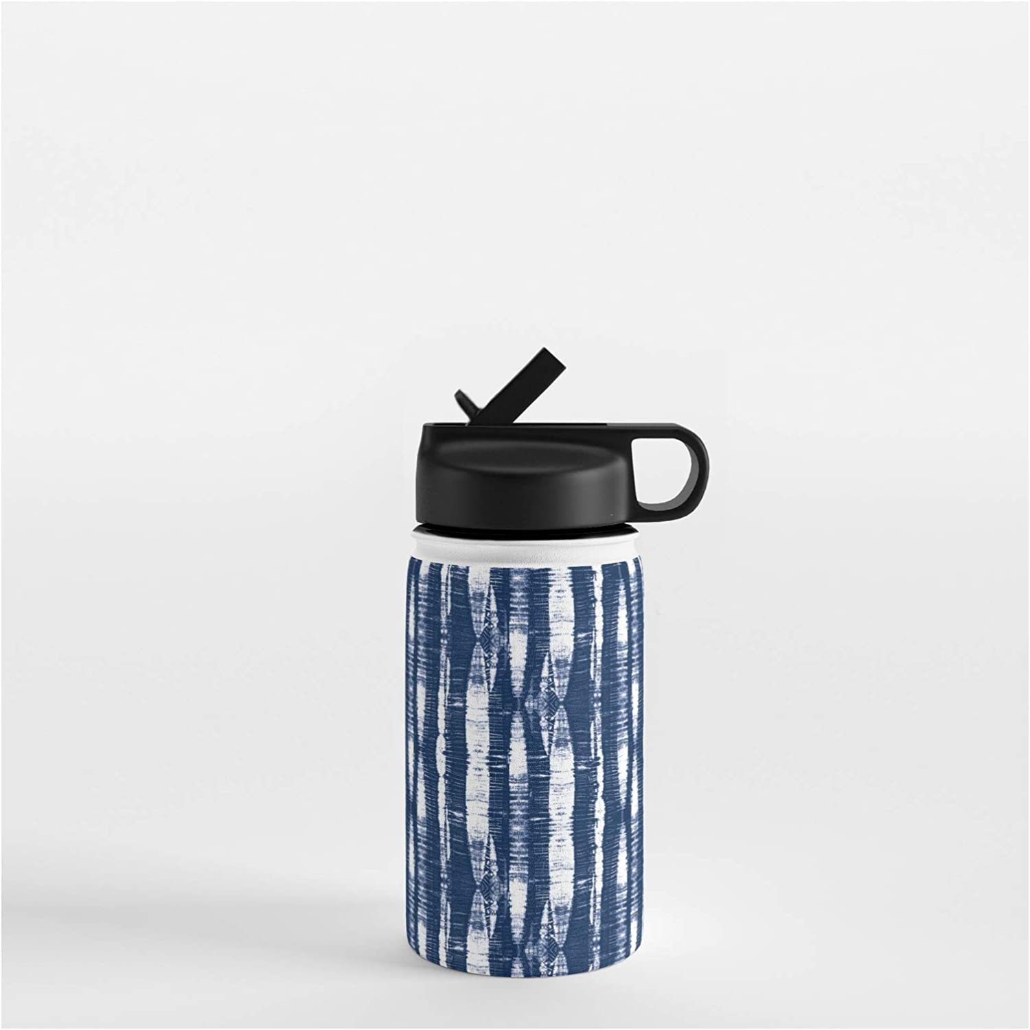 Society6 Ranking TOP10 Shibori Stripes Indigo Blue by Simple on Excellence Luxe Water Bot