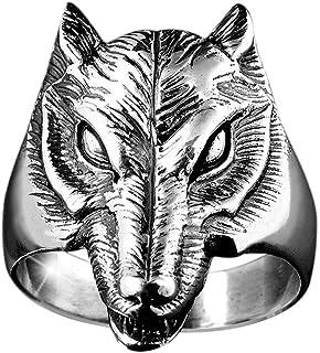 Materia dam herr ring varg 925 silver ring massiv 10,9g/17 18 19 20 21 mm inkl. ringbox #SR-30