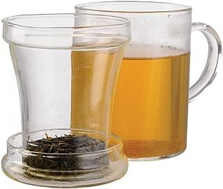 Primula Glass Mug with Loose Tea Infuser, 12-Ounce