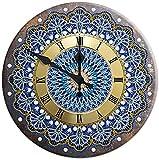 Mandala Diamond Pinting Clock 5D Metal Tin Signs Diamond Bordery Cross Stitch DIY Arts Crafts Bar Pub Letrero Decoración de la Pared