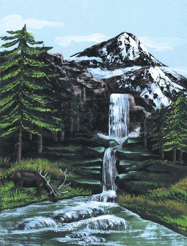 Royal & Langnickel PCS1 Séries Peinture d'après les chiffres Toile d'artiste Torrent de montagne Petit