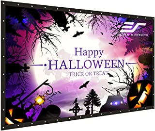 Elite Screens DIY PRO, Indoor Outdoor Portable Projector screen PVC 133-inch 16:9, 8K 4K Ultra HD 3D Movie Theater Cinema 133
