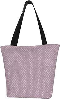 Lesif Einkaufstaschen, winzige lila Anker, Segeltuch, Umhängetasche, Einkaufstasche, wiederverwendbar, faltbar, Reisetasche, groß und langlebig, robuste Einkaufstaschen