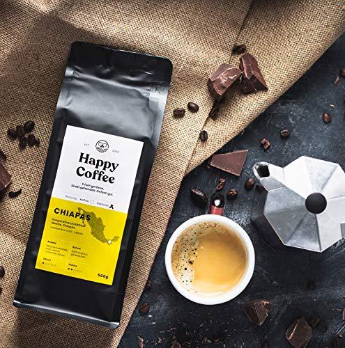 HAPPY COFFEE Bio Espressobohnen 1kg [Chiapas] I Frische fair-trade Kaffeebohnen direkt aus Mexiko I Arabica Kaffee ganze Bohnen I Ideal für Vollautomat und Siebträger - 5