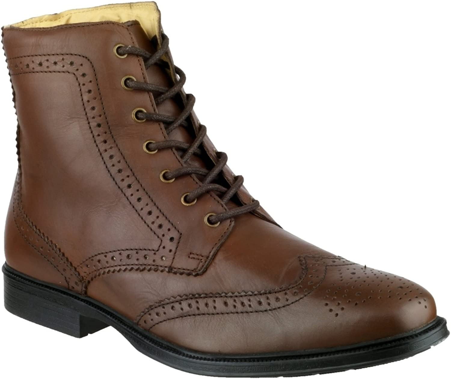 Cotswold Mens Willersey Brown Premium Leather Lace Up Brogue Boot