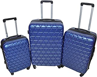 New Travel Luggage Trolley Bags, 3 Peices, Navy Blue, ASX98-3P