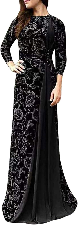 SERYU Women Plus Size maxi Print Muslim Dress Mesa Mall Bargain Floral Long