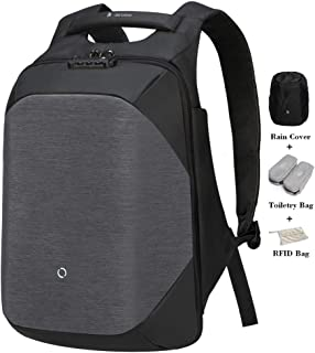 KORIN ClickPack- Anti Theft Travel Backpack Laptop Backpack 15.6 inch with USB Charging Port Large Capacity Waterproof TSA Travel