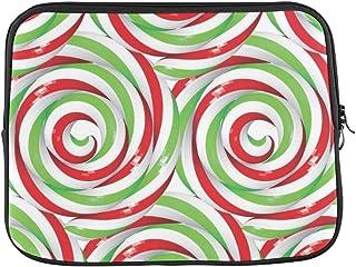 "Design Custom Christmas Twisted Lollipops Festive Sleeve Soft Laptop Case Bag Pouch Skin for MacBook Air 11""(2 Sides)"