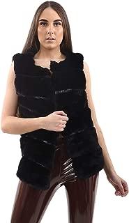 Janisramone Womens Ladies New Faux Fur Gilet Vest Sleeveless Waistcoat Jacket Winter Warm Outwear Coat 8-14