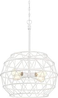 Westinghouse Lighting 6367800 Sierra Four-Light Indoor Chandelier, White Finish