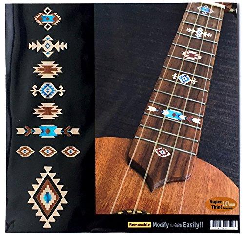 Pegatinas para ukeleles, diseño étnico, color natural