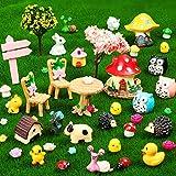 67 Pièces Accessoires de Jardin Miniature de Fée Kit d'Ornements Miniatures Mini Animaux Figurines d'animaux Miniatures Animaux Accessoires de Micro-Paysage pour Bricolage Maison de Poupée