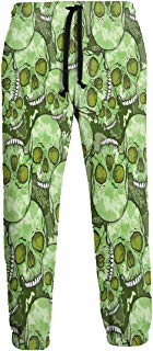 NTQFY Camouflage Skull Pattern Men's Sweatpants Comfy Jogger Pants with Pockets Lightweight Athletic Pant