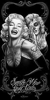 JPI DGA Marilyn Monroe Fiber Reactive Beach Towel - Smile Now Cry Later