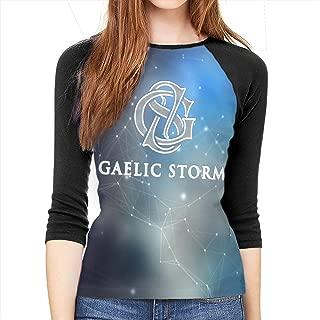 Gaelic Storm Womens Casual 3/4 Sleeve T Shirt Blouses Tee Shirts