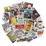 BAIMENG Póster Vintage, periódico Antiguo, Pegatina para Maleta, Cuaderno, Pegatina publicitaria, monopatín, Libro, página, Pegatina, 38 Piezas