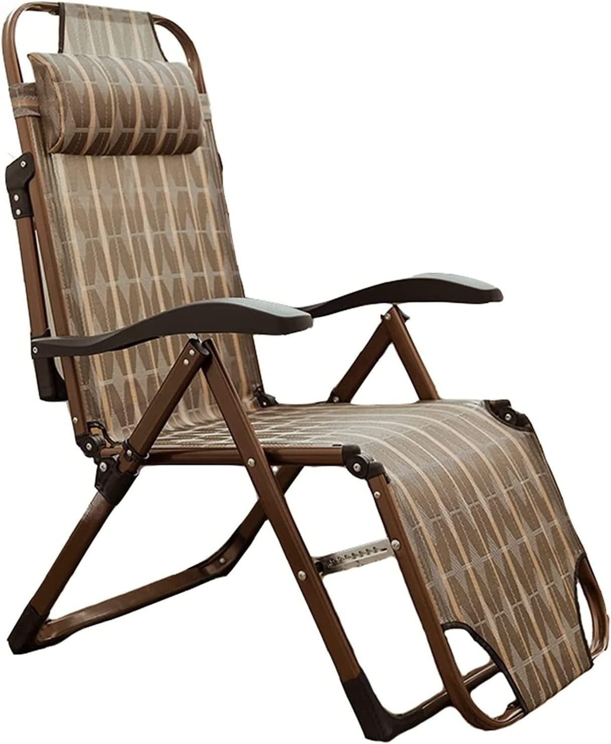 LIUZH Lightweight and Durable Folding Same day shipping Khaki Max 71% OFF Meta Portable Chair