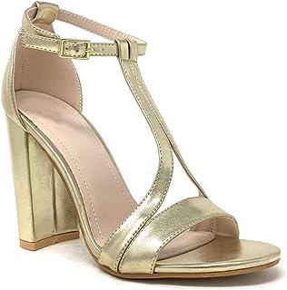 prix raisonnable sélectionner pour dernier dernière mode Amazon.fr : sandales a talon dore : Chaussures et Sacs