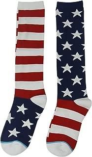 Novelty Funny Socks, Gmall American Flag Chicken Leg Unicorn Halloween Over Calf Socks