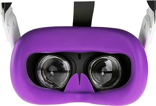 NEWZEROL VR Couvre-Visage en Silicone Compatible pour Oculus Quest 2, Coussinets de Remplacement Lavables et Antidéra...