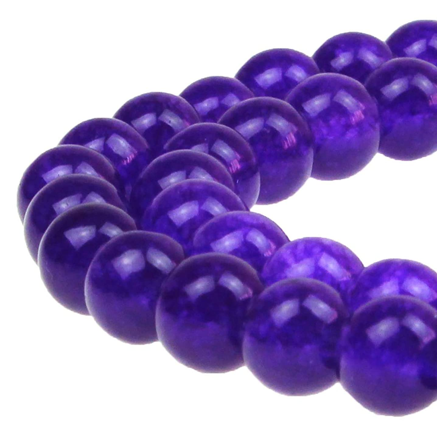 8mm Stone Beads Amethyst Round Loose Beads 50PCS Per Bag for Jewelry Making DIY Bracelet Necklace Earrings 1 Strand 15