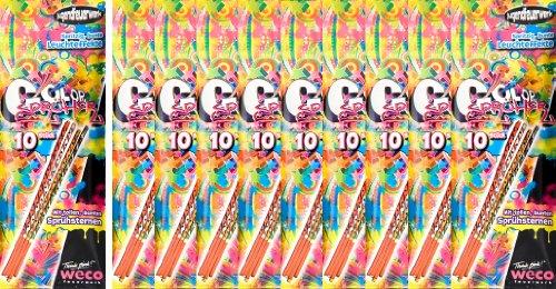 100 Color Sprüher 20cm - Kinder Fackel - Handfontäne
