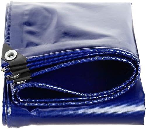 YHUJH Crème Solaire imperméable de bache Couvrant la Toile d'ombrage de Pluie Plus Une bache épaisse extérieure, Bleu (Taille   3  6cm)