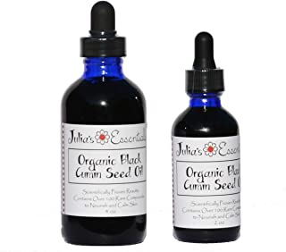 BLACK CUMIN SEED OIL - 100% Organic Food Grade - Cold Pressed - (Nigella sativa) Julias Essentials...