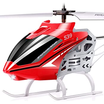 SYMA RC Helicopter, S39 Aircraft with 3.5 Channel,Bigger Size, Sturdy Alloy Material, Gyro Stabilizer and High &Low Speed, Multi-Protection Drone for Kids and Beginners to Play Indoor-Red