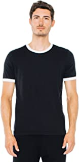 American Apparel Men 50/50 Crewneck Ringer T-Shirt