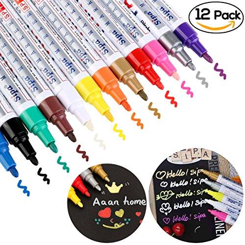 NUOLUX Wasserfeste Farbe Oil Based Art Filzstift - 12 Farben