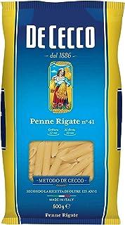10x Pasta De Cecco 100% Italienisch Penne Rigate n. 41 Nudeln 500g