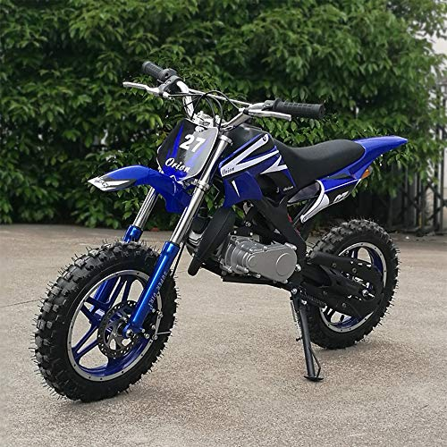 xxbao mini dirt bike, 49cc dirt bike,children's bicycle, gasoline-powered 2-stroke 49cc motorcycle. (green) (Blue) -  ddx, 0-1