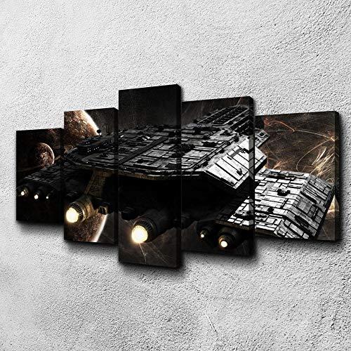 37Tdfc Leinwandbild 5 stück Bilder Wandbilder Kunstdruck XXL 5 Teilig 150x80 cm Stargate Daedalus HD Print Dekorative Gemälde Auf Leinwand Wandkunst Für Wohnung Wohnzimmer Wand Dekor
